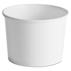 Paper Food Containers 64oz White 25 pack 10 Packs carton 60164