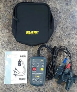 Aemc 6610 Non contact Phase Rotation Meter 45 To 65hz
