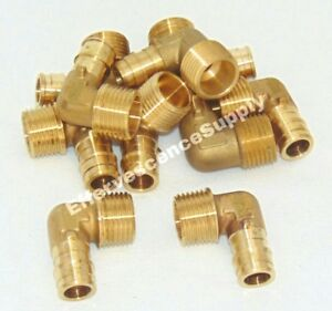 10 Pieces 1 2 Propex X 1 2 Mip Elbow Lead Free Brass Uponor Style