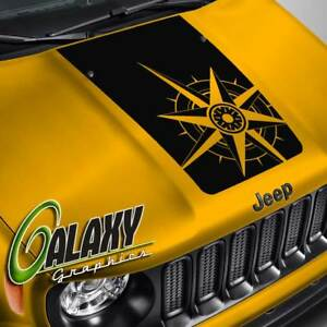 Hood Decal For Jeep Renegade Compass Blackout Hood Sticker