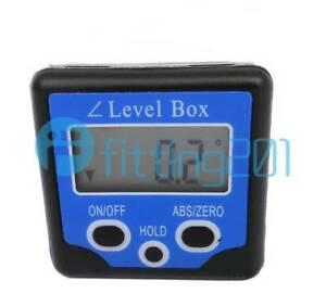 New Digital Box Gauge Angle Protractor Level Inclinometer Magnetic Base 0 360