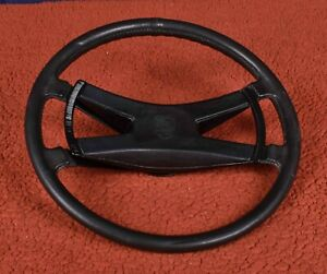 Porsche 914 911 912 380mm Vdm Faux Leather Steering Wheel With Butterfly Horn
