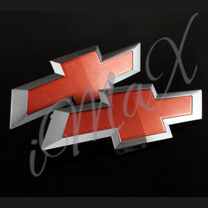 For 2016 2019 Gm Chevy Silverado 1500 Red Front Tailgate Bowtie Emblem Set