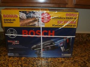 Bosch 11255vsr gws8 1 in Sds plus 8 amp Rotary Hammer Angle Grinder New