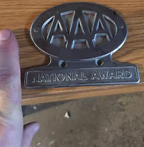 Vintage License Plate Topper Triple A Aaa Stainless Free Shipping Chevy Ford