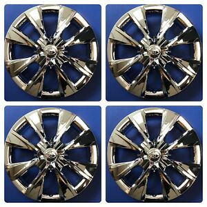 Set Of 4 Chrome 15 Hubcaps Wheelcovers Fits 2014 2018 Toyota Corolla
