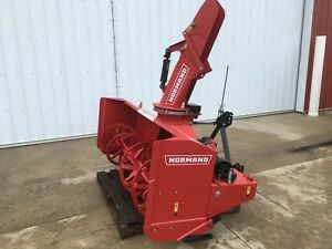 New Normand N82 260h Snowblower Two Stage 3pt Pto Powered Hyd Chute Angle