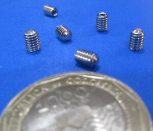 18 8 Stainless Steel Set Screws Flat Point 8 32 X 1 4 Length 200 Pieces