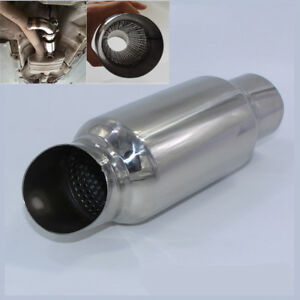 Stainless 2 5 Car Exhaust Silencer Downpipe Muffler Mid Link Pipe Weld On Tube