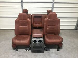 1999 2010 Ford F250 F350 F450 Super Duty King Ranch Front Rear Seats Console