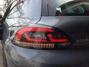 Black Clear Finish Led Tail Rear Lightbar Lights For Vw Scirocco 08 14