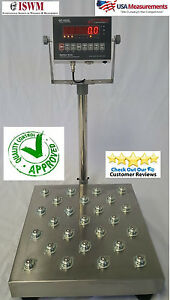 Shipping Bench Scale Ball Roll Top Floor Scale 20 X 20 Platter 500 Lb Ntep