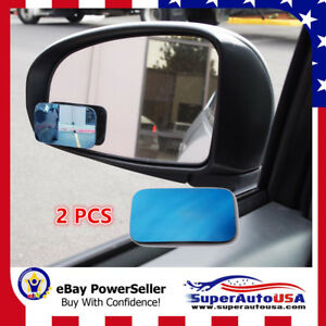 Blue Tint Blind Spot Mirror Wide Angle Rear View Car Side Mirror For Isuzu