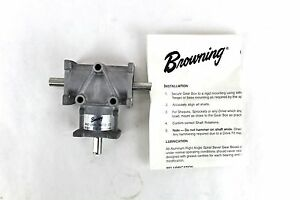 Browning Gear Reducer 3 8 2 1 Ratio Right Angle Bevel Lr Output 3ara2 lr20