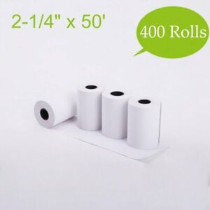 400 Rolls 2 1 4 x50 Thermal Paper Pos Cash Register Credit Card Receipt Paper