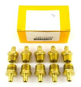 Parker 28 8 8 1 2 To 1 2 Tube To Pipe Brass Pneumatic Connector Box Of 10