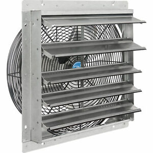 18 w Exhaust Ventilation Fan With Shutter Single Speed Lot Of 1