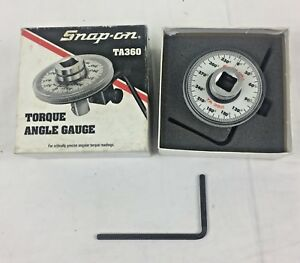 Snap On Torque Angle Gauge 1 2 Square Drive ta360 Pre owned In Box Snap on