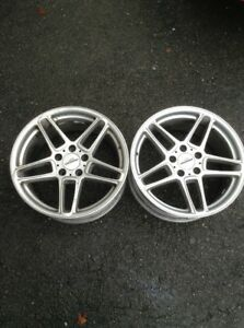 2 Pair Only 18x8 5 Et43 Ac Schnitzer Type 3 Bmw Wheels 5x120 Center Caps