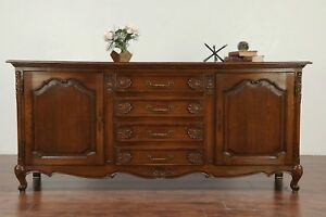 Country French Oak 1930 Vintage Sideboard Server Tv Console Cabinet 29882