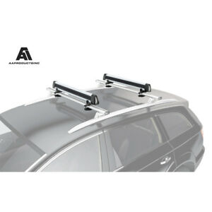 33 Aluminum Universal Roof Mounted Snowboard Ski Car Roof Racks Set Of 2