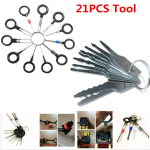 Car Door Lock Out Emergency Open Unlock Key Tools Kit Terminal Removal Tool