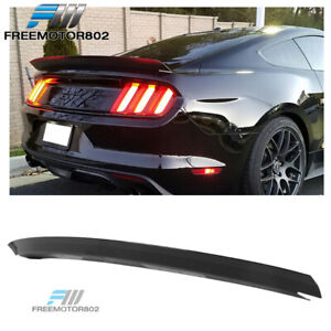 Fits 15 19 Ford Mustang R Style Rear Trunk Spoiler Wing Lip Glossy Black Abs