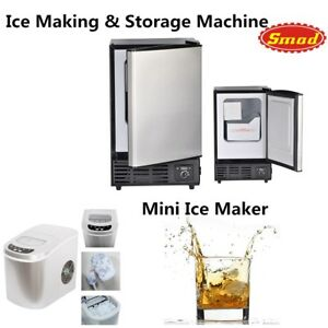 Smad Ice Maker Compact Automatic Ice Making Machine Sliver Bar Pub Home Kitchen