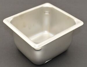 1 Stainless Steel One sixth Steam Table Pan 4 Deep Syscoware 1 6 Size 5079496