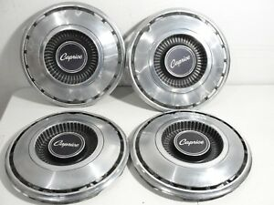Vintage Lot Of 4 1968 69 Caprice 14 Hubcaps Chevy Chevrolet