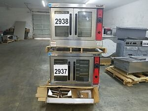 2937 2938 Used Double Stack Vulcan Deep Depth Convection Ovens model vc66gd