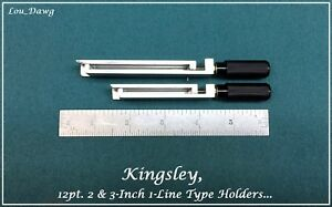Kingsley Machine 2 3 inch 12pt 1 line Type Holders Hot Foil Stamping Machine