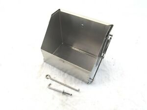 Ford Chevy Mopar Universal Steel Drop Out Battery Box Stainless Bpd 1101