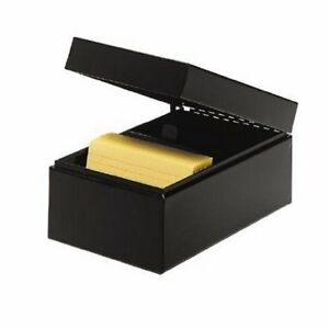 Steelmaster Steel Card File Box Fits 4 X 6 Index Cards 900 Card Capacity 6 5