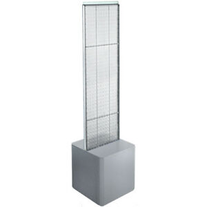 4 Sided 13 5 X 44 Plastic Pegboard Modern Floor Display Stand 10 Colors