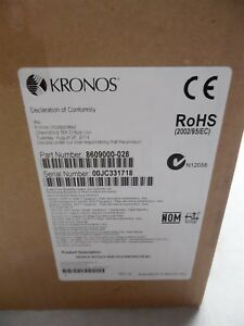 Kronos Intouch 9000 Barcode H3 Poe Time Clock 8609000 028 Brand New