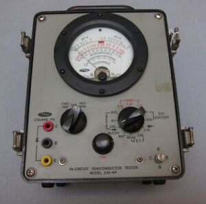 Ael 245 mf Semiconductor Tester For Bipolar Transisters And Fets Military
