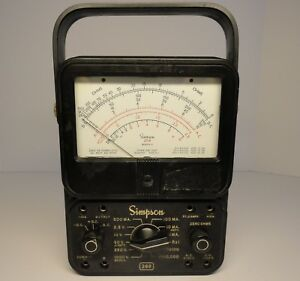 Vintage Simpson 260 Series 3 Multimeter excellent Working Condition