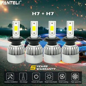 H7 H7 Combo Cree 3700w 555000lm Led Headlight Kits High Low Beam Hid 6000k Bulbs