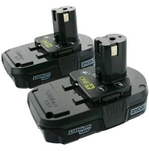 Lot Of 2 Ryobi P102 18v One Compact Lithium Ion Batteries New