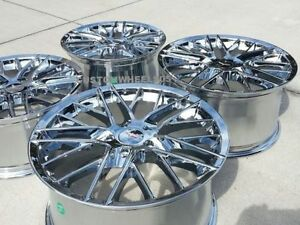 Chrome C6 Zr1 Corvette Wheels 19x10 20x12 Fits 2006 2013 Z06 grand Sport zr1