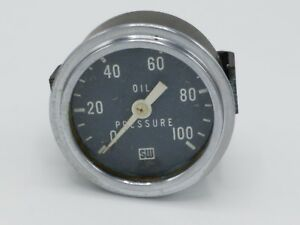 Vintage Sw Stewart Warner Oil Pressure Gauge Rat Hot Rod Ford Usa Dash