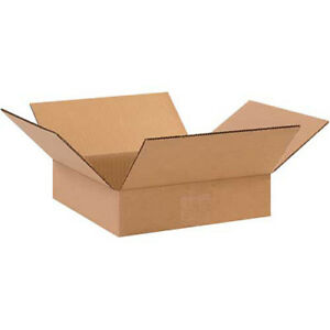 10 x10 x2 Flat Corrugated Boxes 200lb Test ect 32 25 Pack Lot Of 25