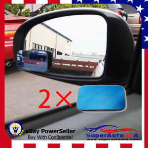3d Blue Tint Blind Spot Mirror Wide Angle Rear View Car Side Mirror For Nissan