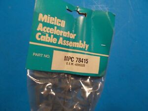 1979 1981 Chrysler Dodge Plymouth Mielco Accelerator Cable 78415 New 4095320