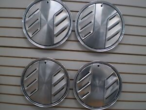 1983 1984 Ford Mustang Slicer Wheel Cover Hubcaps Oem Set 83 84 824