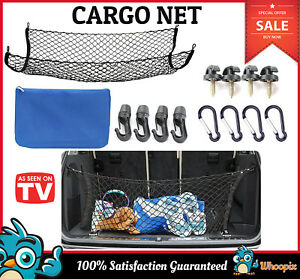 Cargo Net With Hooks For Suv Netting Car Trunk Pickup Truck Bed Trailer Tailgate