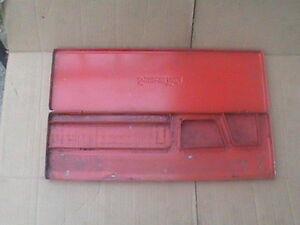 Snap On Usa Vintage Red Metal Box Empty Box For 1 4 Drive 67 Piece Kra282