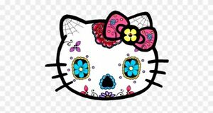 Hello Kitty Sugar Skull Sticker For Skateboard Luggage Laptop Tumblers Car