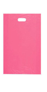 5 000 Wholesale 24 High Density Pink Plastic Merchandise Shopping Bags